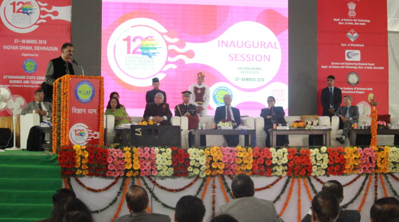 Honorable Governor of Uttarakhand Dr K. K. Paul inaugurated 12th Uttarakhand Science and Technology Congress at UCOST, Dehradun