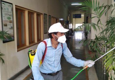 Regular Sanitization of UCOST's Office at Vigyan Dham, Jhajra