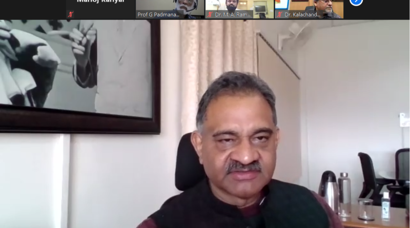 """A Webinar entitled """"Science & Technology based solution to combat the Covid-19 Pandemic"""" under NASI New Initiatives was organized on 5th December 2020 in an online/ virtual mode jointly by UCOST, Dehradun, NASI Allahabad & NASI Uttarakhand Chapter, Dehradun."""