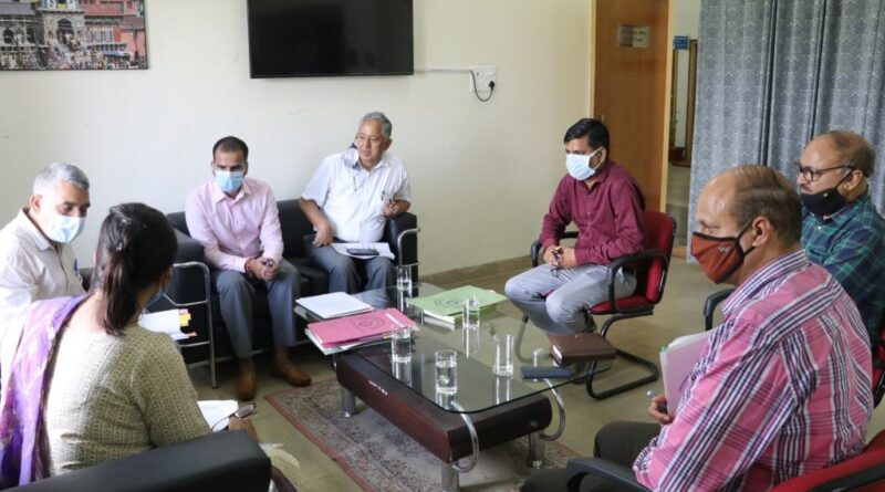 A meeting for the MoU Finalization for Architect of Science City, Dehradun